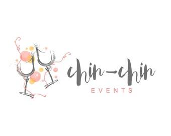 Event Company Logo// Party logo//Splash logo// Sparkle logo//Confetti logo//Champagne Logo