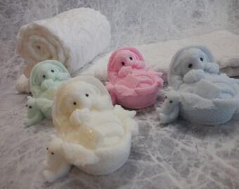 Little Lamb Soap - Lamb Soap Favor - Gift Soap - Baptism Soap - Baby Shower Soap - Decorative Lamb Soap - Handmade Soap - Guest Soap