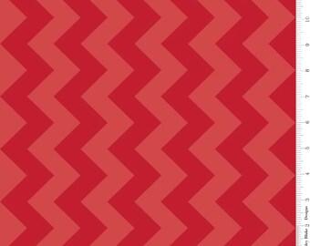 Red Tone on Tone Medium Chevron by Riley Blake - C380-81-RED