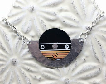 Recycled / Upcycled Aluminum and Licorice Tin Necklace