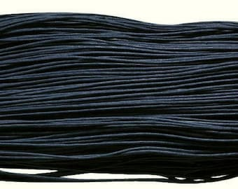 Navy Blue waxed cotton cord 2 m - 2 mm