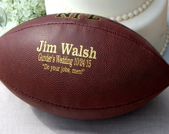 Personalized Football, Custom Engraved Football, Gifts for Men, Groomsmen Gift, Christmas Gift, College Football, Football Keepsake