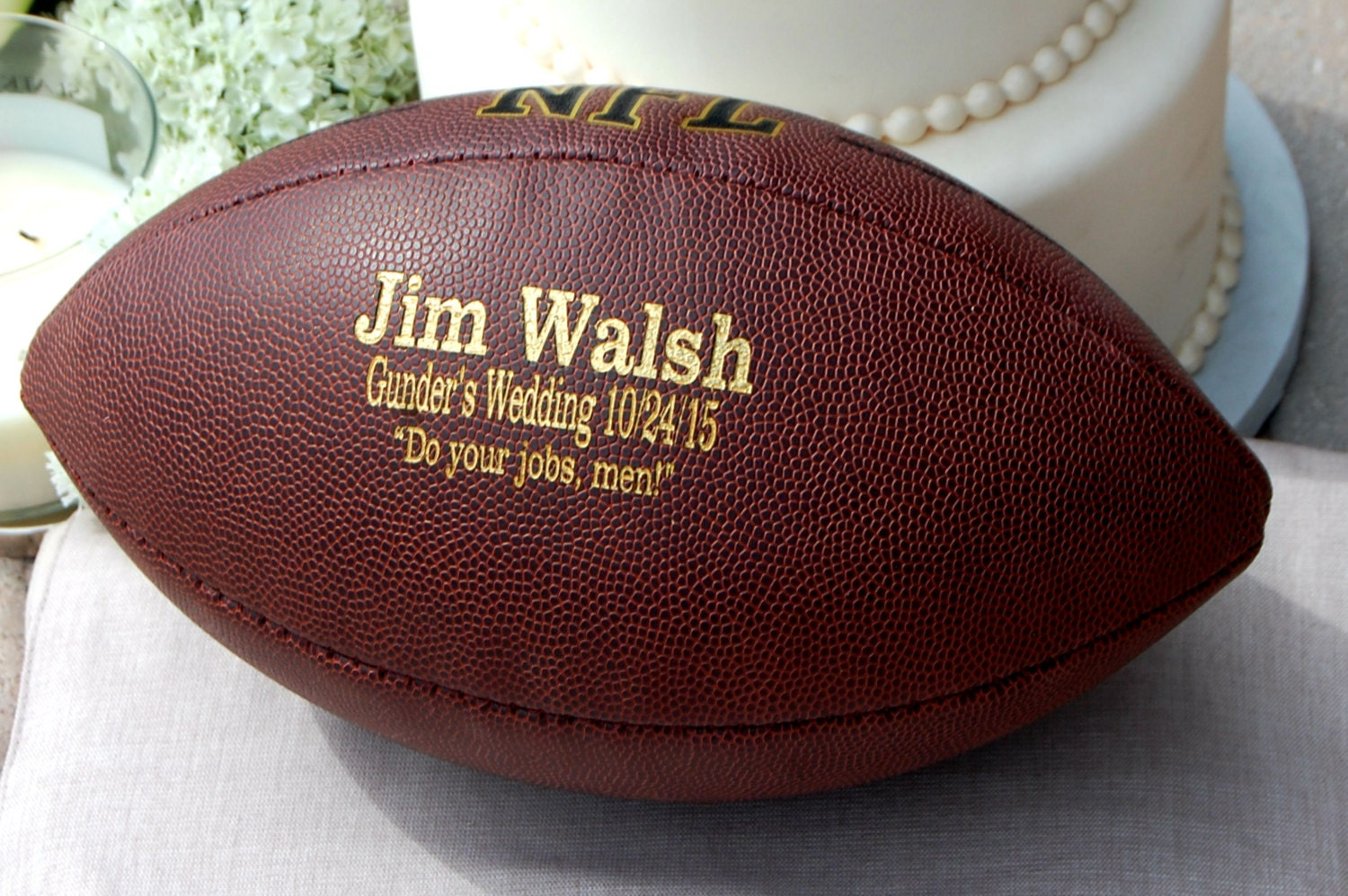 Personalized Football Custom Engraved Football Gifts For
