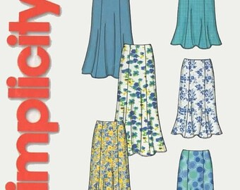 ON SALE OOP Misses Skirt in Two Lengths Regular and Maxi Length Simplicity 5524 So Easy Pattern Regular and Plus Size 8-18 Uncut