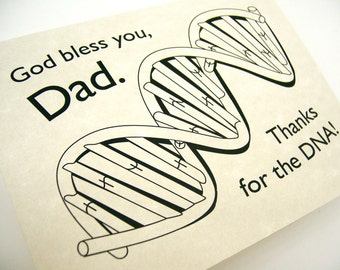 DNA genealogy God bless you Dad clip art digital black printable DIY card coloring page for birthday thanks love, fathers day, father-in-law