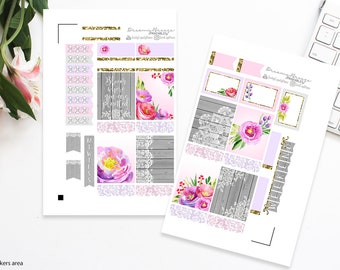 Spring Mini Kit | Bloom | Printable Planner Stickers | Erin Condren Life Planner