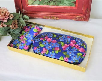 Vintage Makeup Bag/Boxed Toiletry Storage/Boxed Cosmetic Purse/ Vanity Bag (ref1960S)