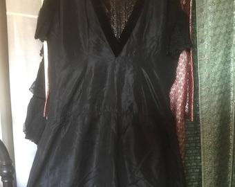 Distressed but gorgeous Edwardian  dropped waist dress