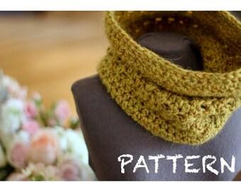 PATTERN X-Stitch Neckwarmer Crochet PATTERN | 1 Skein Crochet Cowl Pattern | Circle Scarf Pattern