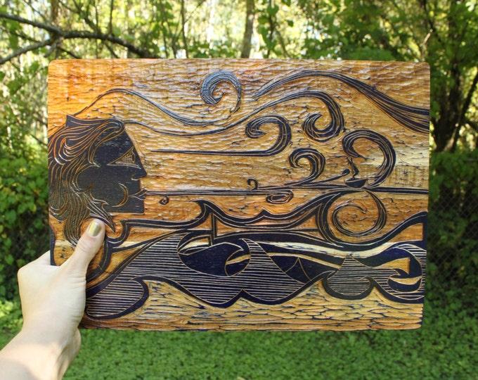 Windy Woman Cutting Board