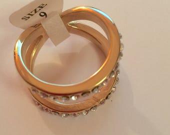 Golden RHINESTONE ring