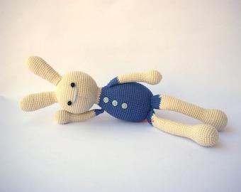 PDF Crocheted Bunny Felix,  Crochet Toy,  DIY tutorial
