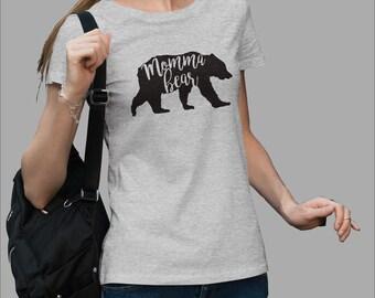 Momma Bear T-shirt #J