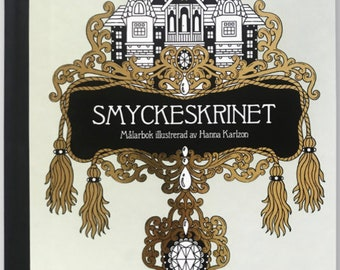 NEW! Smyckeskrinet Coloring book by Hanna Karlzon - The jewelry box by Hanna Karlzon