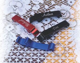 key chain Bottle opener , custom keychain, Memorial, Team, Friends, Wedding gift, aluminum Bottle/Can opener