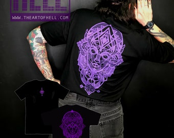 "The Art of Hell ""chakra"" Black T-Shirt"