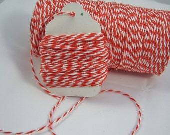 Bakers Twine - The Twinery - 100% Cotton  - Mandarin Orange Twist - Your Choice of Length