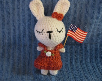 Crochet Sleepy Bunny Rabbit Easter Present Free Shipping Inexpensive Gift Baby Shower Stuffed Animal Soft Baby or Child Toy