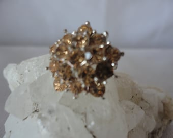 Vintage Pronged Smokey Crystals Star Shape Brooch***.
