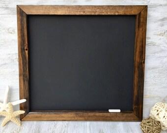 Chalkboard Rustic Wood Chalkboard Framed Chalkboard Rustic Home Decor Wedding Chalkboard Sign Square Chalkboard 18 x 18