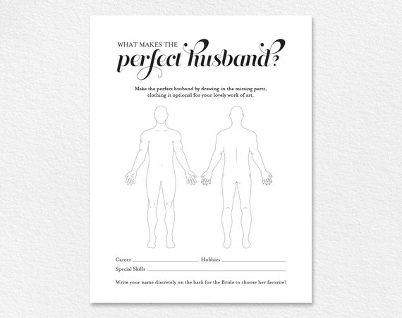 The perfect husband bridal shower game wedding shower games the perfect husband bridal shower game wedding shower games bridal shower printable game template pdf instant download bpb4239 pronofoot35fo Gallery