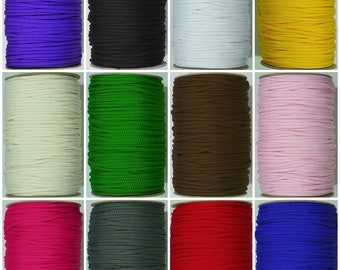 5mm Polyester Braided Coloured Cord Rope in a Range of 12 Colours