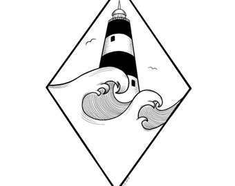 Hook Lighthouse (diamond design)