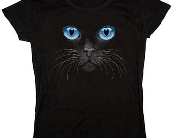Ladies T-shirt / Blue Eyed Cat