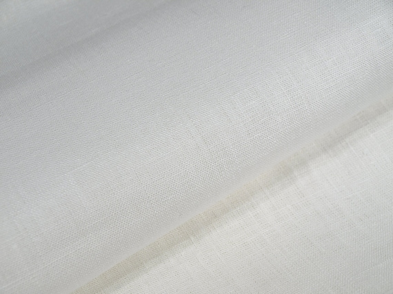 off White Linen Fabric cloth Width 59 inch Medium Weight