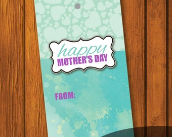 Mother's Day gift tags / Happy Mother's Day / Gift Tag / DIY Gift Tag / Instant Download / Watercolor Gift Tag / Instant Download