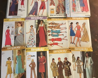 Vintage Sewing Patterns 1970's - Twelve patterns