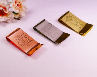 Personalised Copper Money Clip Engraved Copper Money Clip Personalised Money Clip Monogrammed Copper Gift Customised Money Clip Copper