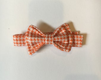 boys bowtie- tie- photoshoot prop- orange white wedding bowtie-Gingham bowtie-birthday tie-boys clothing- easter outfit -boy accessories