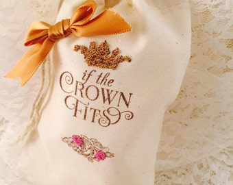 Princess Party Decorations - Princess Party Favor Bags - Princess Candy Bar - Crown Party - Party Guest Gifts - Set of 10 - Customized