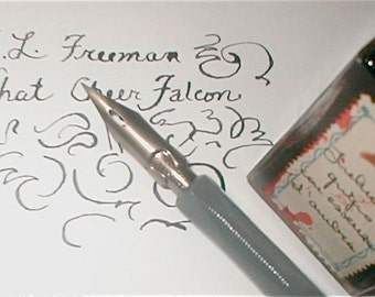 E. L. Freeman Falcon Pen Nibs - What Cheer - Set of 8 - For Clerical and Office Use - Shaded Writing Vintage 1940s