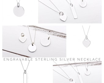 Personalised Necklace | Name Necklace | Sterling Silver Necklace | Silver Charm Necklace | Gift ideas for her