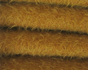 Quality 300S/CM - Mohair-1/4 yard (Fat) in Intercal's Color 821S-Amber. A German Mohair Fur Fabric for Teddy Bear Making, Arts & Crafts