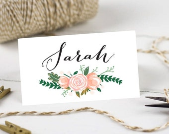 Personalised Printable, Wedding Place Cards,Name Cards - Vintage Floral Collection
