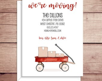 Moving Announcements - New Address Announcements - Wagon Announcements - New Home - Wagon Moving Announcement