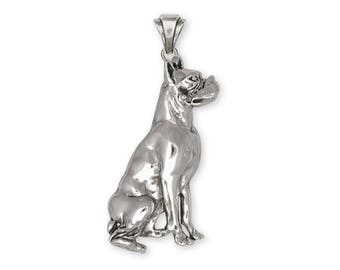 Boxer Pendant Jewelry Sterling Silver Handmade Dog Pendant D34-P