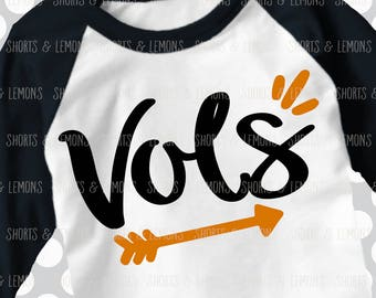 Vols svg, Arrow svg, Volunteers, Cut File, iron on, football mom svg, Silhouette, Printable iron on, Digital Download, Cricut, dxf, clip art