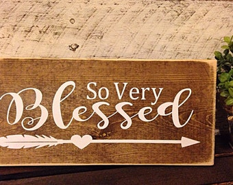 Blessed sign | blessed wooden sign | wedding sign | wedding decor | nursery decor | rustic wood sign