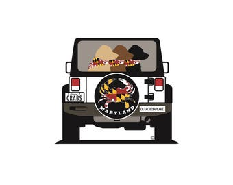 3 Bud  Maryland Road Trip Magnet & Decal