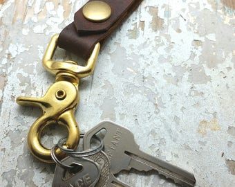 Key Chain with Brass Lobster clasp