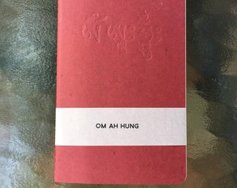 Om Ah Hung Journal Deboss Printed on Letterpress