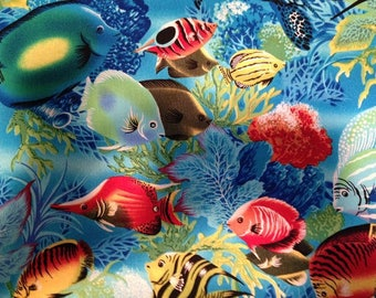 Ocean Reef Cotton Fabric by the Yard