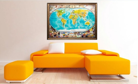 Scratch off travel map scratch travel map scratch off world like this item gumiabroncs Gallery