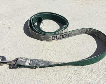 Military Army ACU High Quality Personalized Dog Leash