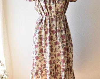 Vintage Floral House Dress Muumuu Beach Coverup