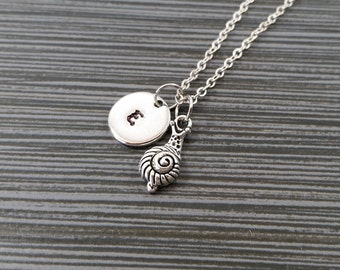 Dainty Snail Necklace - Snail Charm Pendant - Personalized Necklace - Custom Gift - Initial Necklace - Personalized Gift - Slug Jewelry